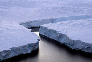 A new study suggests under-sea volcanoes could be helping to melt Antarctica's ice. Photo / AFP