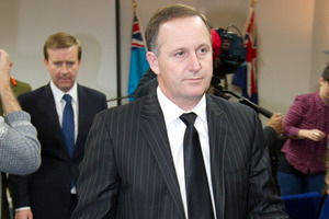 State Services Minister Jonathan Coleman and Prime Minister John Key. Photo / File / Greg Bowker