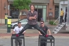 Channing Tatum spoofs Van damme's 'epic splits' from the Volvo truck ad. Courtesy: YouTube/Channing Tatum