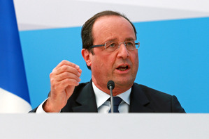 Hollande has adopted a sharper tone in his Middle East policy. Photo / Getty Images