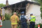 The scene of the fatal fire in Taneatua