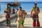 The traditional blessing of canoes at Vaka Eiva in Raotonga.