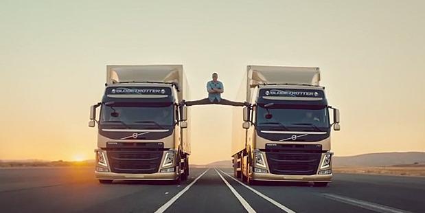 Jean-Claude Van Damme doing his epic splits stunt.