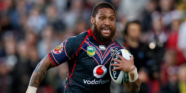 Manu Vatuvei was absent from training. Photo / Richard Robinson