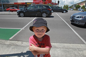 Elfie 3yrs managed to escape kindy to trek home - crossing a very busy road.