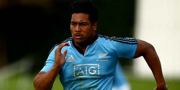 Julian Savea has tweaked his knee during a training session. Photo / Getty Images