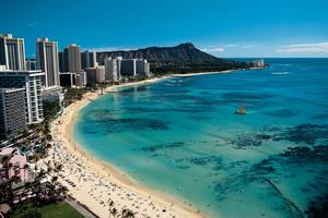 Hawaii has found that its convention centre on Waikiki Beach is under-booked because US mainland companies are wary of travelling too far.