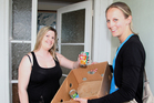 Arataki resident Chantelle Goode happily donated cans to the Bay of Plenty Times Christmas Appeal for the foodbank when reporter Amy McGillivray knocked on her door. Photo / Andrew Warner.