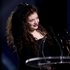 Lorde wins best Breakthrough Artist of the Year during the Vodafone Music Awards. Photo / Dean Purcell