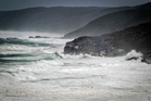 Waves crash along the coastline at West Cape Howe National Park.