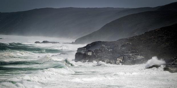 Loading Waves crash along the coastline at West Cape Howe National Park.
