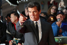 U.S actor Josh Brolin gestures on the red carpet at the London Film Festival. Photo / AP