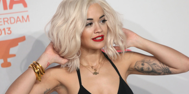 Rita Ora was rushed to hospital after collapsing at a photo shoot. Photo / AP