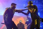 Robert Fitzgerald Diggs, aka RZA, left, and Clifford Smith, aka Method Man, of Wu-Tang Clan. Photo / AP