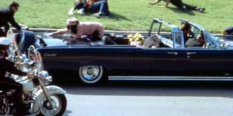 This image provided by Warner Bros. from Oliver Stone's 1991 movie JFK shows a recreation of the assassination of U.S. President John F. Kennedy in Dallas.
