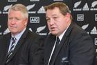 All Blacks coach Steve Hansen (right) and Steve Tew.