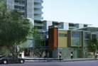 A 16 storey tower that could be built near Milford Mall. Photo / NZ RETAIL PROPERTY GROUP