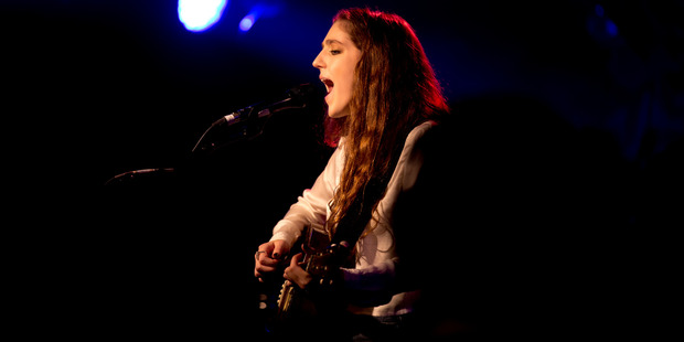 Singing sensation Birdy plays to a selected group of fans at the Civic Theatre. Photo / Dean Purcell
