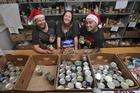 Little Big Markets organisers Chris and Rachelle Duffy with musician Tiki Taane have announced a Christmas in the Park, with all proceeds going to Tauranga Community Foodbank.Photo / File.