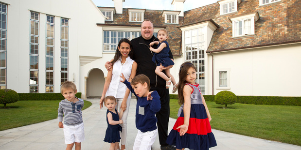 Kim Dotcom's family is the centre of his world. Photo / Michael Craig