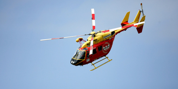 Waikato-based Westpac Rescue Helicopter transported a woman from Whakatane Hospital after she fell from a ute.
