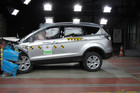 A Ford Kuga goes through a Euro crash test. Photo / Supplied