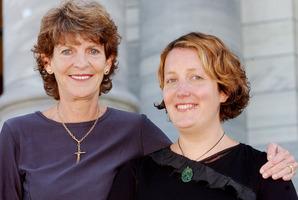 File photo of Moana Mackey, right and mother, former MP Janet Mackey. Photo / NZ Herald