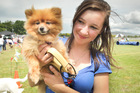 Brittney Fyfe from Hastings and Min a 3 year old Pompom.