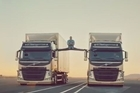 Watch Jean-Claude Van Damme carry out his famous split between two reversing trucks. Never done before, JCVD says it's the most epic of splits. Courtesy: YouTube/Volvo Trucks