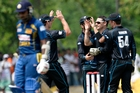 Nathan McCullum made the initial breakthrough for New Zealand last night.AFP