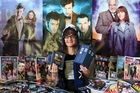 BIG FAN: Karolyn Timarkos, an avid Doctor Who fan, plans to watch the 50th-anniversary episode three times tomorrow - once in 3D and twice on TV.PHOTO JOEL FORD 211113JF21BOP