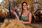 Melissa Bachman posing with her kill.