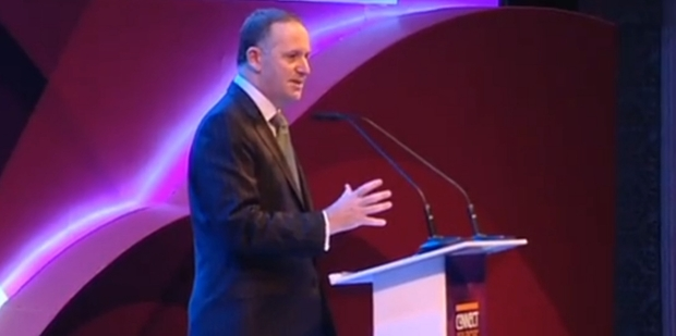 PM John Key went off script to tell a UN seminar in Bangkok about NZ. Photo / One News