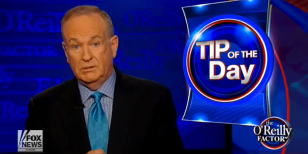 Bill O'Reilly criticising Paul Casserly.
