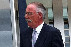 Senior constable Keith Rose outside court today. Photo / Kurt Bayer