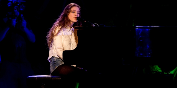 Singing sensation Birdy wows fans at a lunchtime show at the Civic Theatre yesterday. Photo / Dean Purcell