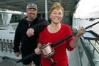 Michelle and Lance Goodhew are an effective team on the water: He's the skipper and she's the angler. Photo / Mark Mitchell