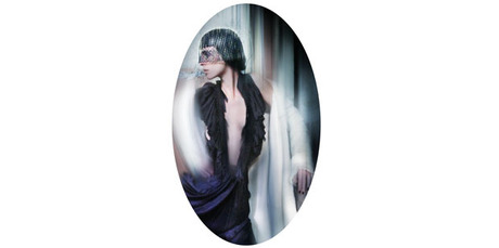 Philip Treacy hat, c.2004, Louis Vuitton coat, A/W 2004. Wunderkind dress, S/S 2006. Worn to 'The Phantom of the Opera' premiere, 6 Dec 2004. Model, Liberty Ross/Storm Models.Photo/Nick Knight.