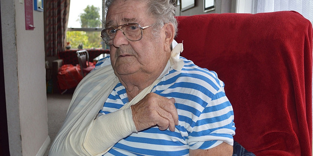 Jimmy Hambley, 81, was the victim of a vicious attack by Nui, a bull mastiff. Photo / Viv Logie