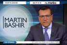 Martin Bashir apologising for his comments about Sarah Palin.