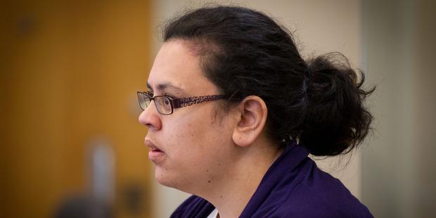 Facebook predator Natalia Burgess in the Manukau District Court. Photo / Richard Robinson