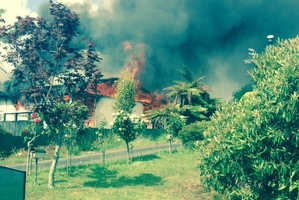 The fire at an Edmund Rd house. Photo / SUPPLIED