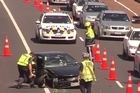 Rush hour traffic has ground to a halt in Auckland this evening after serious crashes on both the Southern and Northern Motorways and a major arterial road. Two cars collided on Tamaki Drive near the Parnell Pool this afternoon, police said.   The road was closed to all traffic between The Strand and Ngapipi Road.
