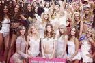 Taylor Swift with the Victoria's Secret Angels. Photo / Instagram