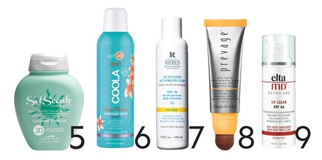 Sunscreen options 5-9. Photo / Supplied.
