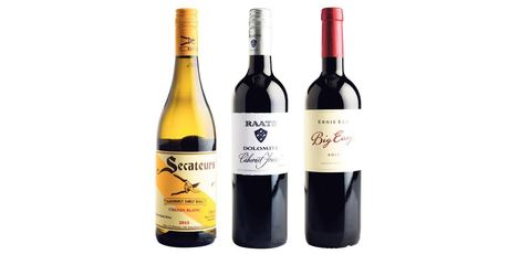 "From L / R. Badenhorst Family Wines Secateurs Chenin Blanc; Raats Dolomite Cabernet Franc Stellenbosch; Ernie Els ""Big Easy"". Photo / Supplied."