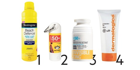 Sunscreen options 1-4. Photo / Supplied.
