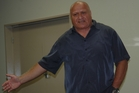 Henare O'Keefe from Flaxmere talks to Dannevirke people working with at-risk families. Photo/Christine McKay