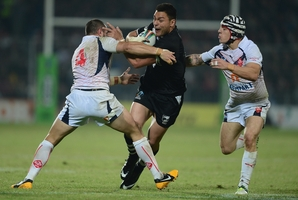 Alex Glenn and the Kiwis beat France 48-0 at the World Cup. Photo / Getty Images