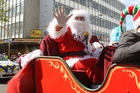 Santa was the star turn at last year's parade and he's booked for another appearance on Saturday.  PHOTO/FILE